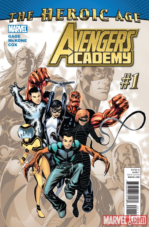 Avengers Academy #1 cover by Mike McKone