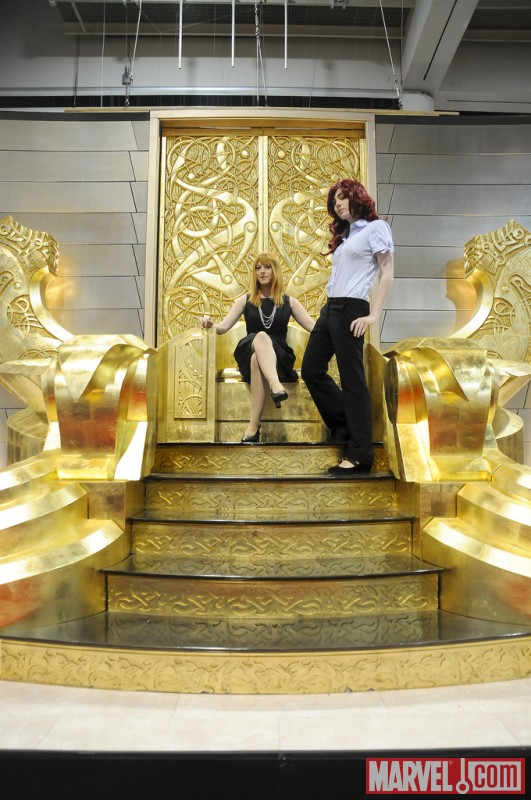 Marvel Cosplay Photo Op - Pepper Potts and Natasha Romanova
