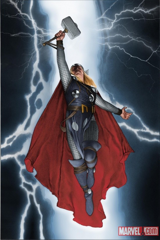 The Mighty Thor #1 cover by Travis Charest