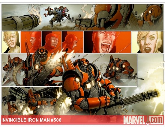 Invincible Iron Man #508 preview art by Salvador Larroca