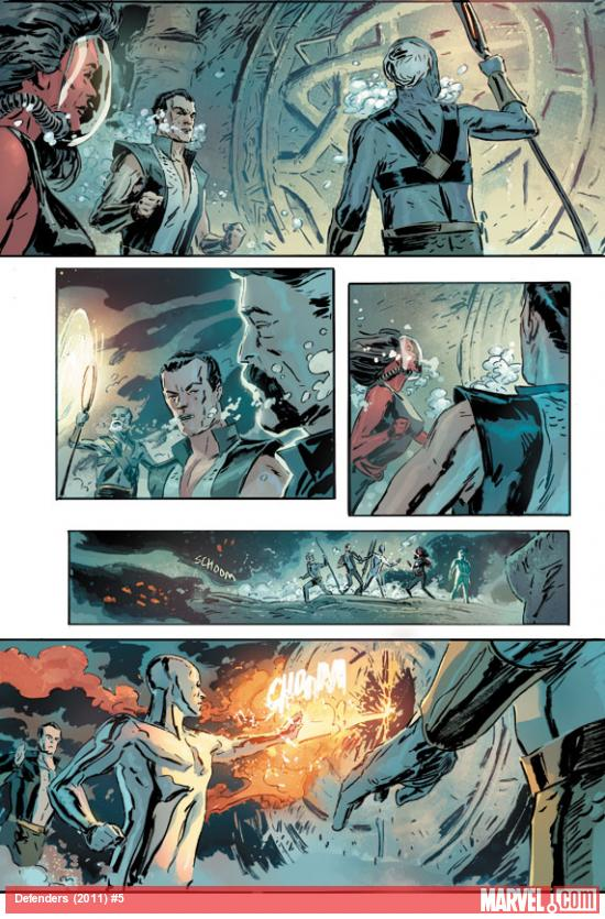 Defenders (2011) #5 preview art by Mitch Breitweiser