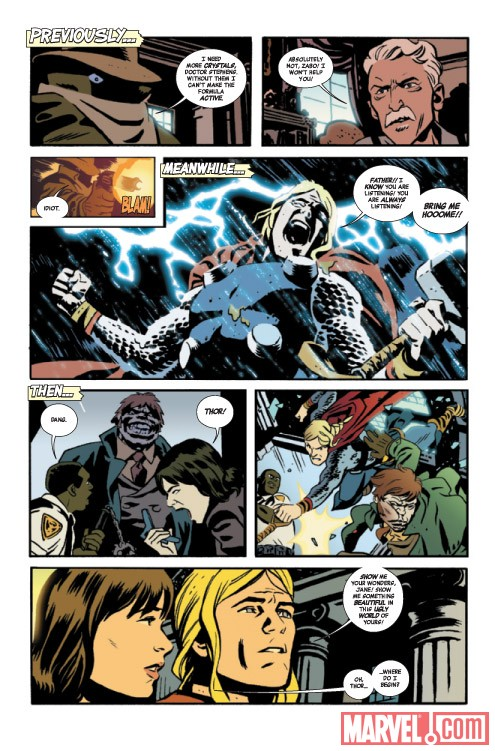 Thor: The Mighty Avenger #3 recap page