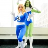 C2E2 2011 - Fantastic Four Cosplay Group - Invisible Woman & She-Hulk
