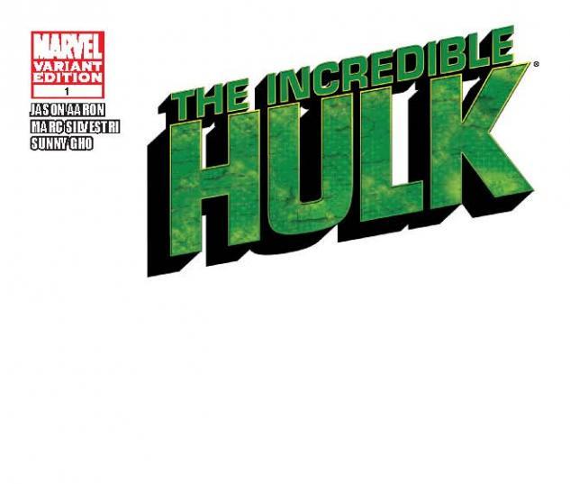 INCREDIBLE HULK 1 BLANK COVER VARIANT