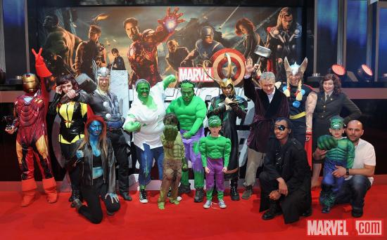 Cosplayers at the London premiere of &quot;Marvel's The Avengers&quot;