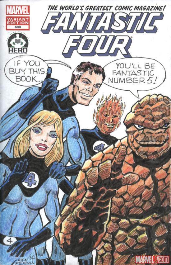 Fantastic Four #600 Hero Initiative variant cover by Don Perlin