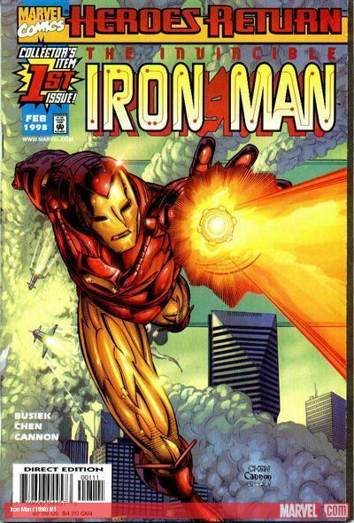 Iron Man (1998) #1 cover by Sean Chen
