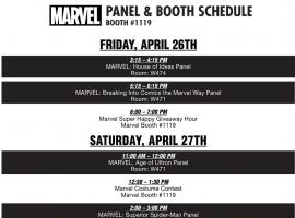Marvel C2E2 2013 Panel & Booth Event Schedule