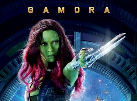 Gamora international poster for Marvel's Guardians of the Galaxy