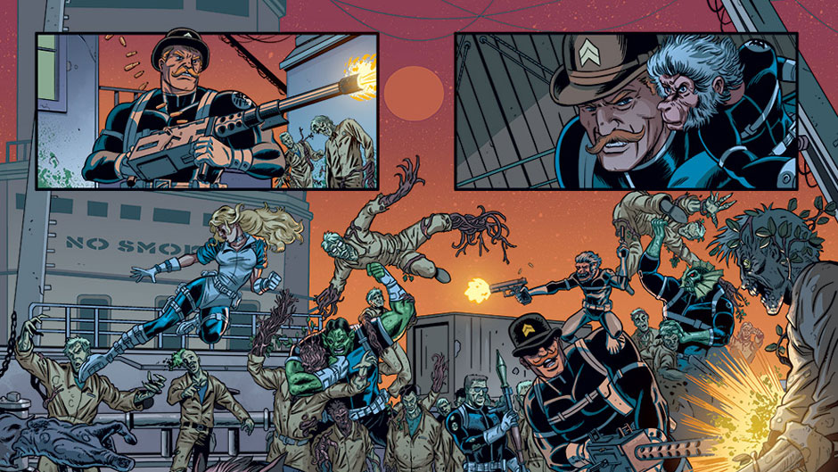 Howling Commandos of S.H.I.E.L.D. #1 preview art by Brent Schoonover