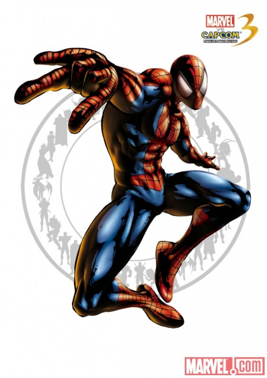 Spider-Man character art from Marvel vs. Capcom 3