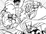 Avengers: Earth's Mightiest Heroes Coloring