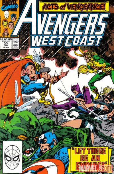 Avengers West Coast #55 cover by John Byrne