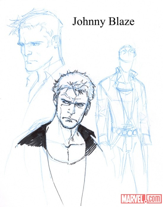 Johnny Blaze sketch by Matthew Clark