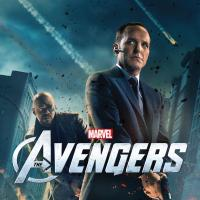 Marvel's The Avengers one-sheet poster featuring Agent Coulson (Clark Gregg) and Nick Fury (Samuel L. Jackson)