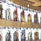 Marvel's Iron Man 3 Hall of Armor display at Toys R Us
