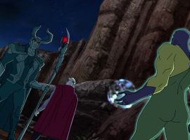 Dr. Spectrum tricks Thor with Loki