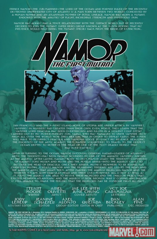 NAMOR: THE FIRST MUTANT #2 recap page