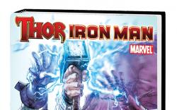 THOR/IRON MAN: GOD COMPLEX PREMIERE HC cover by Stephen Segovia