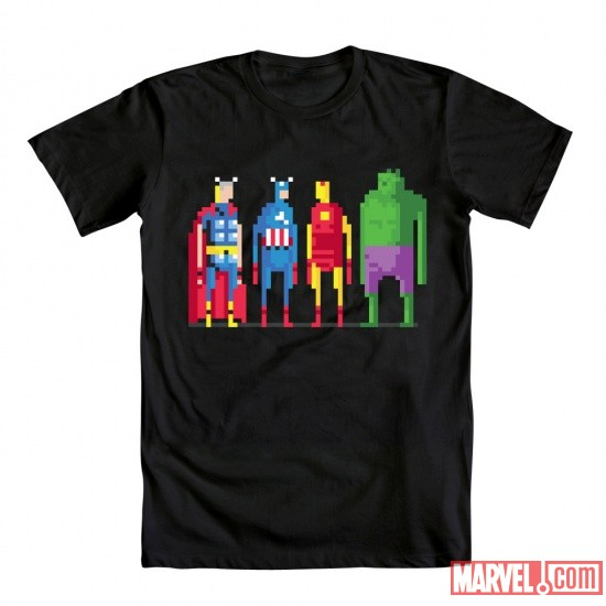 8-Bit Avengers Tee by Mighty Fine