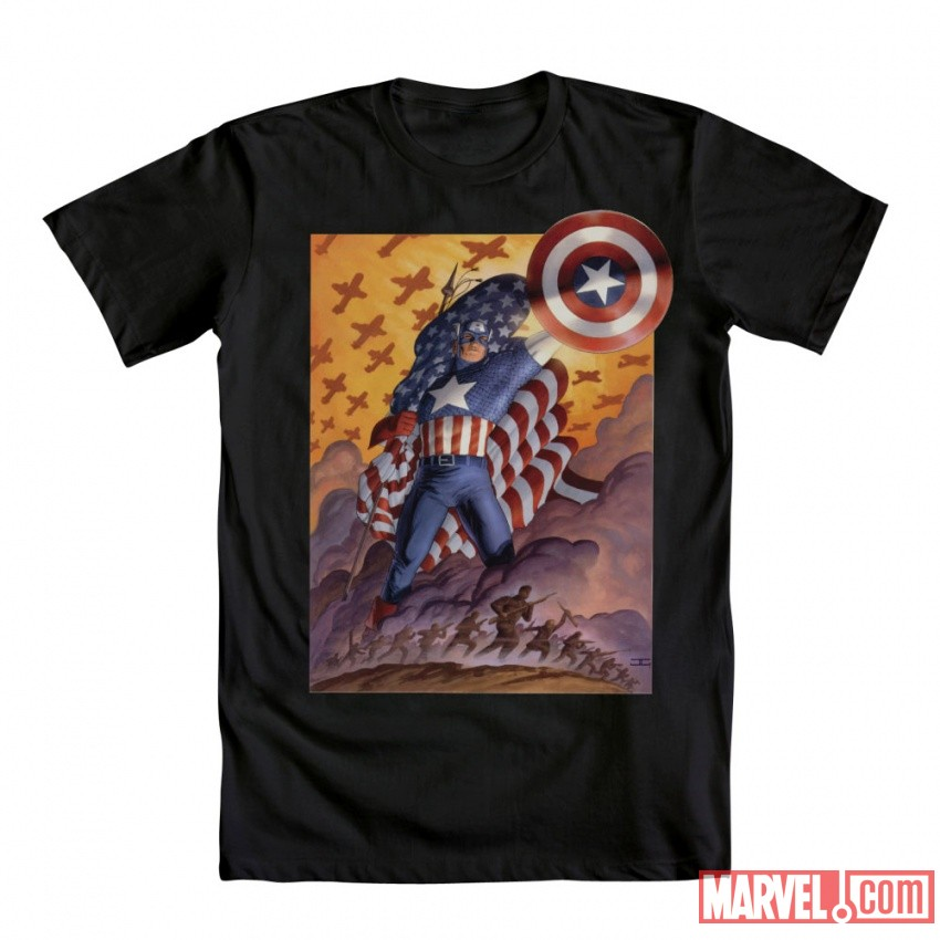 Cap Poster Tee by Mighty Fine