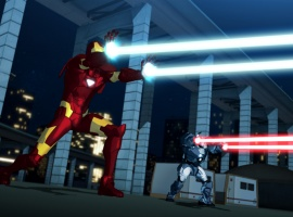 Iron Man and War Machine let loose in Iron Man: Armored Adventures