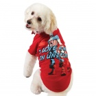 Captain America Red Dog Tee by Fetch available at PetSmart