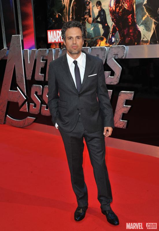 "Mark Ruffalo at the London premiere of ""Marvel's The Avengers"""
