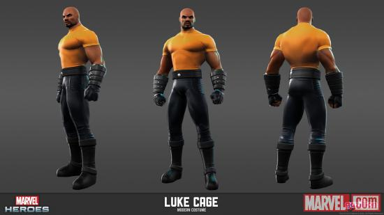 Luke Cage character model from Marvel Heroes