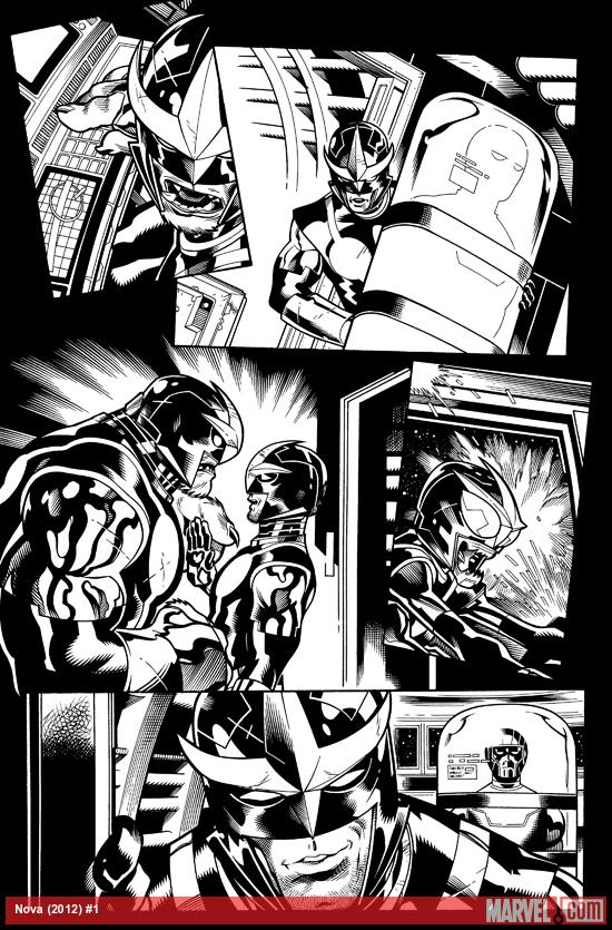Nova (2013) #1 black and white preview art by Ed McGuinness