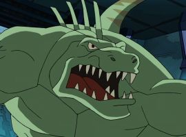 ultimate spider man lizard