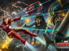 Concept art for the Iron Man Experience coming to Hong Kong Disneyland