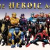 Image Featuring Beast, Black Widow, Hawkeye, Iron Man, Spider-Man, Thing, Thor, Gorilla Man