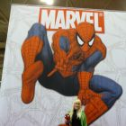 Gwen Stacey cosplayer at Marvel's Fan Expo Canada booth