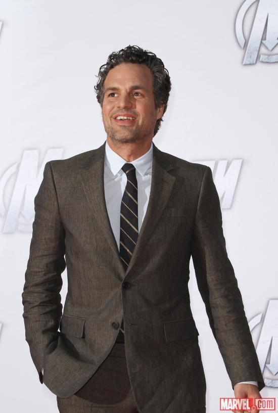 Mark Ruffalo at the Moscow premiere of Marvel's the Avengers
