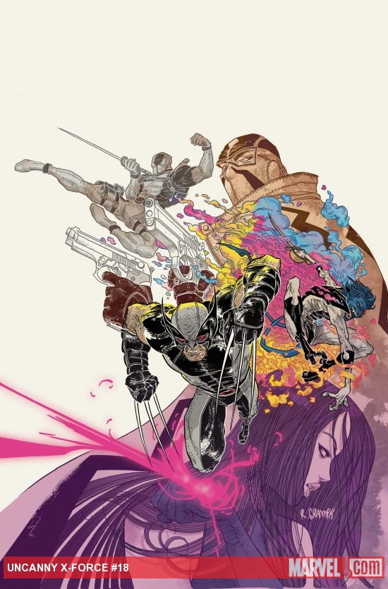 Uncanny X-Force #19 variant cover by Rafael Grampa