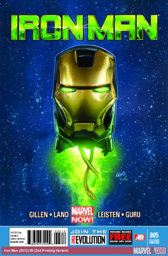 IRON MAN 5 2ND PRINTING VARIANT (NOW, WITH DIGITAL CODE)