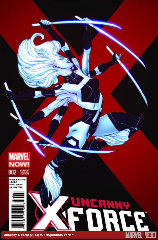 UNCANNY X-FORCE 2 MCGUINNESS VARIANT (NOW, 1 FOR 50, WITH DIGITAL CODE)
