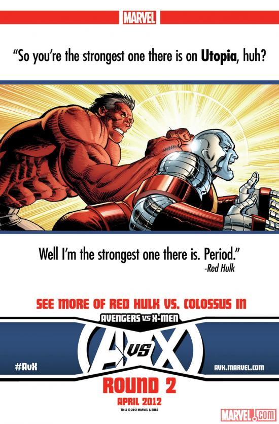 Avengers Vs. X-Men: Red Hulk Vs. Colossus teaser by John Romita Jr.