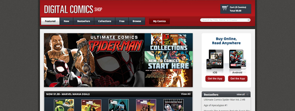 The Marvel Digital Comics Store