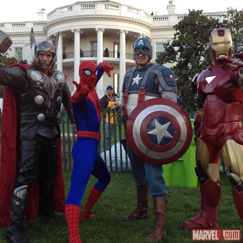 Marvel Super Heroes Join the Easter Egg Roll