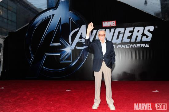 Stan Lee at the Avengers red carpet premiere