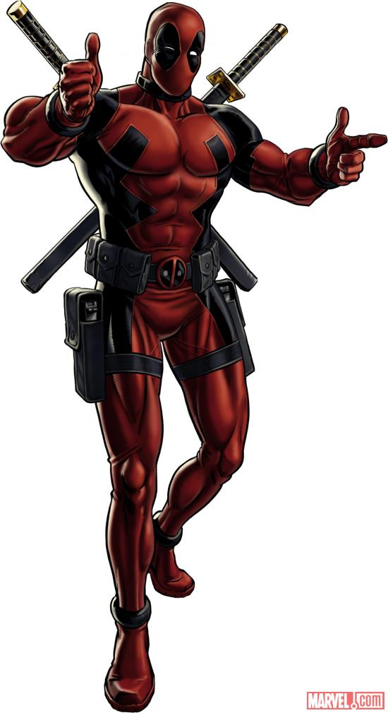 Deadpool character model from Marvel: Avengers Alliance