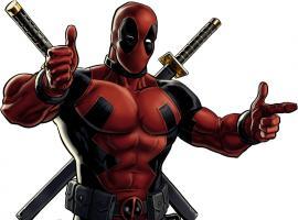 Deadpool character model from Marvel: Avengers Alliance