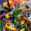 Image Featuring Doctor Doom, Hulk, Iron Man, Super-Skrull, Wolverine, Captain America, Deadpool