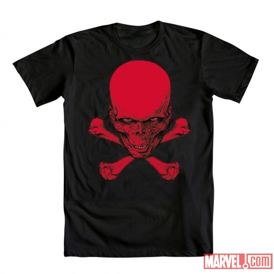 Red Skull and Crossbones Tee by Mighty Fine