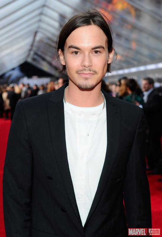 Tyler Blackburn from Pretty Little Liars on the Avengers red carpet