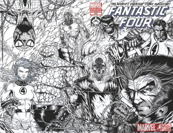 Fantastic Four #600 Hero Initiative variant cover by Josh Medors