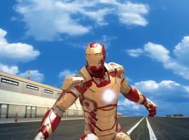 Screenshot of the Mark 42 from Iron Man 3: The Official Game