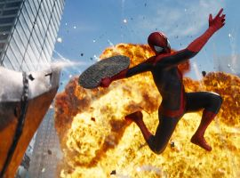 Spider-Man faces the Rhino in The Amazing Spider-Man 2